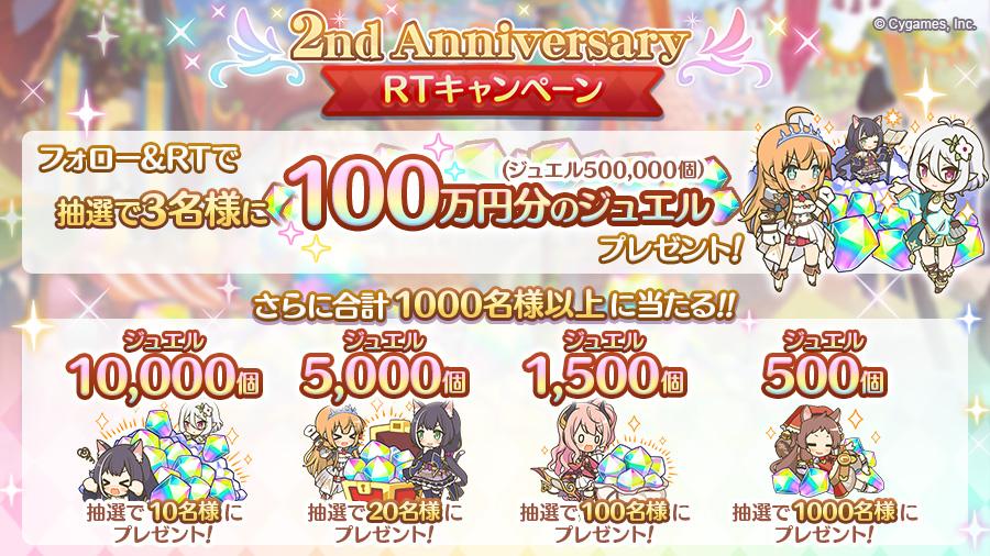 「2nd Anniversary記念 RTキャンペーン」開催!!